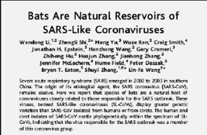 SARS bats reservoir