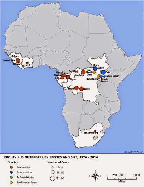 outbreak-distribution-map Ebolavirus