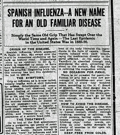 Spanishflu_33 newspaper