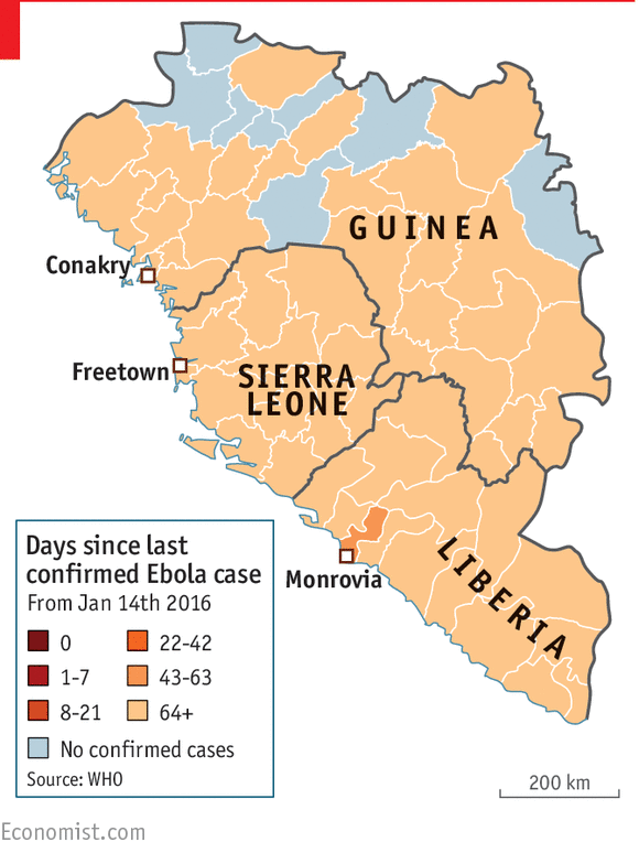Ebola outbreaks days free 2016 January