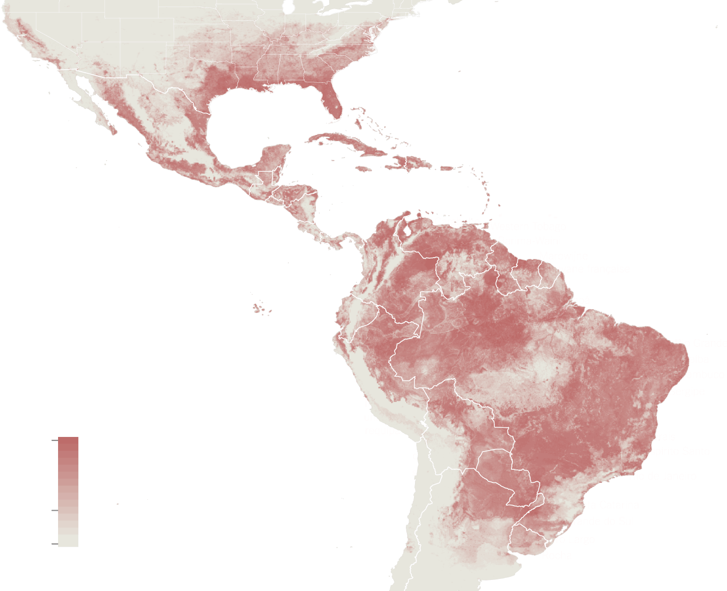 Zika mosquito distribution by nyt